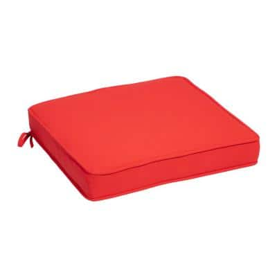 Oceantex Canvas Vibrant Reef Square Outdoor Seat Cushion (2-Pack)