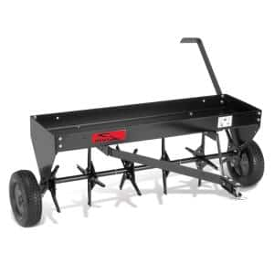40 in. Tow Behind Plug Aerator with Weight Tray and Universal Hitch