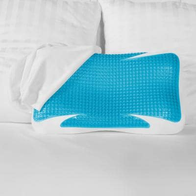 GelMAX Luxury Cooling Firm Support Memory Foam and Gel Oversized Pillow