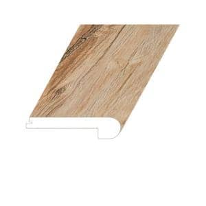 Manifesto Sublime Teak 1 in. Thick x 4.5 in. Wide x 94.5 in. Length Vinyl Flush Stair Nose Molding