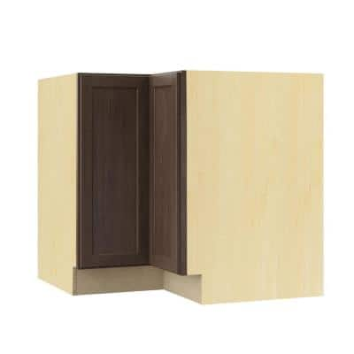 Shaker Assembled 28.5x34.5x16.5 in. Lazy Susan Corner Base Kitchen Cabinet in Brindle