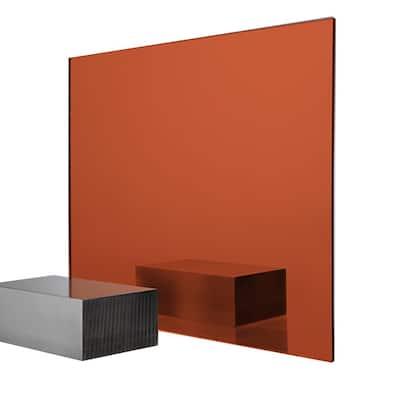24 in. x 48 in. x 0.118 in. Orange Acrylic Mirror