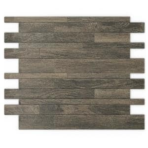 Murano WD Wood 12.2 in. X 9.72 in. X 5 mm Metal Peel and Stick Wall Mosaic Tile (19.68 sq. ft. / case)