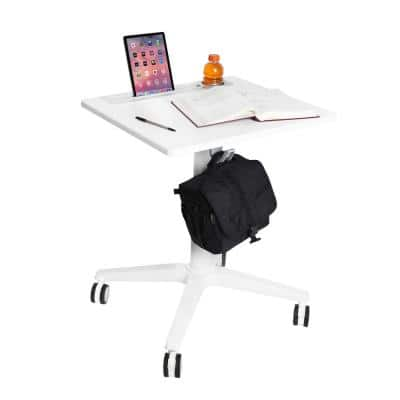 airLIFT 21.6 in. Rectangular White Standing Desks with Adjustable Height