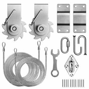Top-Notch Tension Ratchet Winch Triangle Sun Shade Sail Canopy Cable Wire Installation Kit