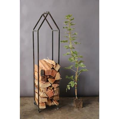 House Shaped Metal Log Holder