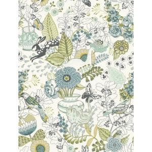 Whimsy Green Fauna Paper Strippable Roll (Covers 56.4 sq. ft.)