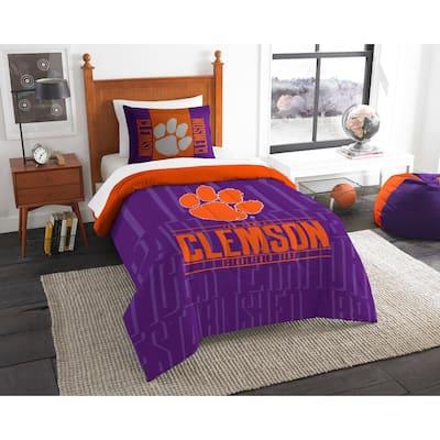 Clemson 2-Piece Modern Take Multi Twin Comforter Set