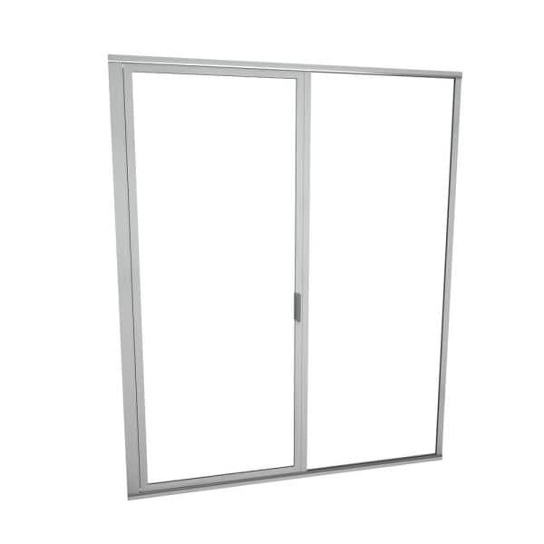 Redi Swing 1100 Series 59 In W X 72 1 8 In H Framed Swing Shower Door In Brushed Nickel With Pull Handle And Clear Glass 11rcbfp05972 The Home Depot