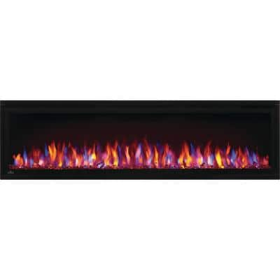 Entice 60 in. Wall-Mount Electric Fireplace in Black