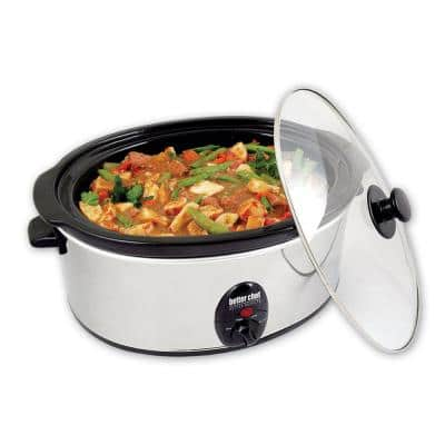 3.7 Qt. Silver Oval Slow Cooker