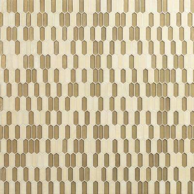 Pixie Gold Hand Crafted 11.52 in. x 9.82 in. x 6mm Glass Mosaic wall Tile (7.9sq. ft./Case)