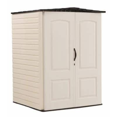 4 ft. 4 in. x 4 ft. 8 in. W Medium Vertical Resin Storage Shed