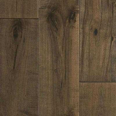 Maple Pacifica 3/8 in. T x 6-1/2 in. W x Varying Length Click Lock Engineered Hardwood Flooring (945.6 sq. ft. / pallet)
