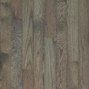 Plano Oak Gray 3/4 in. Thick x 3-1/4 in. Wide x Varying Length Solid Hardwood Flooring (22 sq. ft. / case)