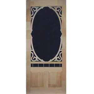 36 in. x 80 in. Clarington Unfinished Wood Screen Door