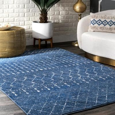 5 X 8 Blue Area Rugs The