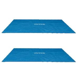 9 ft. x 18 ft. Rectangular Solar Frame Set Swimming Pool Cover (2-Pack)