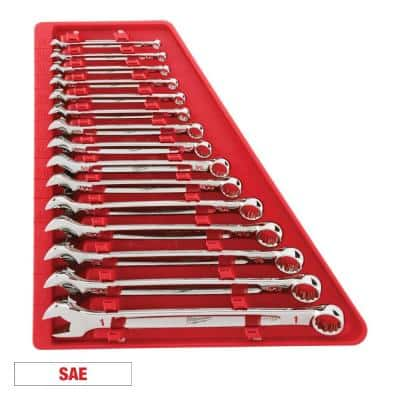 Combination SAE Wrench Mechanics Tool Set (15-Piece)