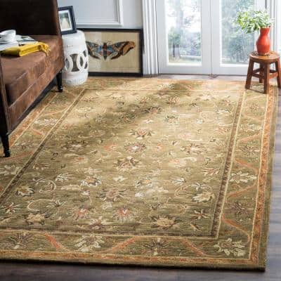 Antiquity Olive/Gold 12 ft. x 15 ft. Area Rug