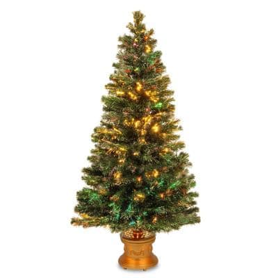5 ft. Fiber Optic Fireworks Evergreen Artificial Christmas Tree