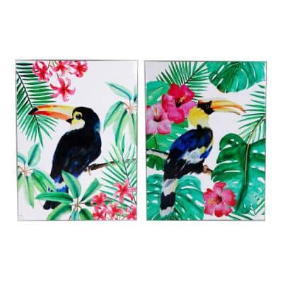 Toucan Multicolored Framed Wall Art (Set of 2)