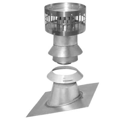 3 in. x 5 in. Vertical Concentric Termination Vent Kit Stainless Steel for Mid Efficiency Tankless Gas Water Heaters