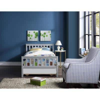 Gray Twin Bed with Trundle