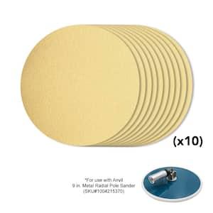 9 in. 80-Grit Sanding Disk (10-Pack)