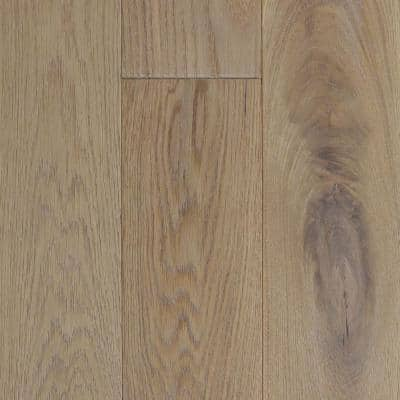 Castlebury Wimborne Eurosawn White Oak 3/4 in. T x 5 in. W x Random Length Solid Hardwood Flooring (20 sq. ft. / case)