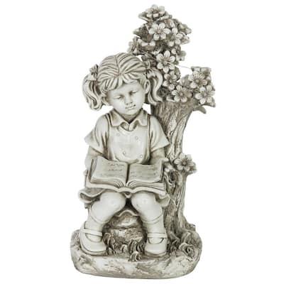Solar Girl Under Tree Statue
