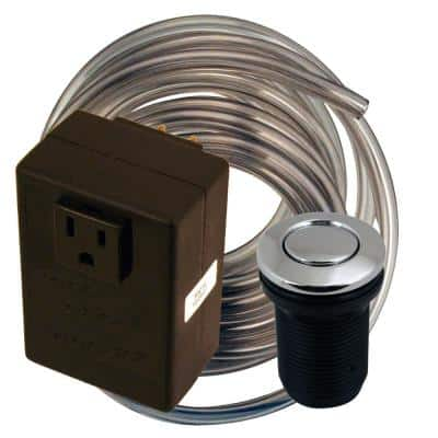 Disposal Air Switch and Single Outlet Control Box in Polished Chrome