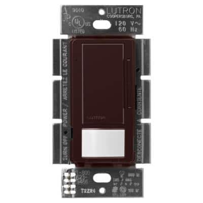 Maestro LED+ Dimmer and Motion Sensor, Single Pole and Multi-Location, Brown