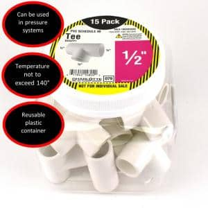 1/2 in. PVC Tee S x S x S Pro Pack (15-Pack)