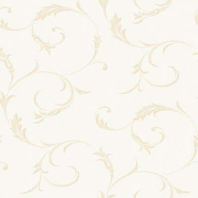 Gold Vinyl Non-Pasted Moisture Resistant Wallpaper Roll (Covers 56 Sq. Ft.)