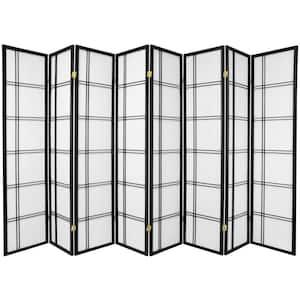 6 ft. Black 8-Panel Room Divider