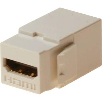HDMI F/F Feed-Through Snap-In keystone Jack Insert - White