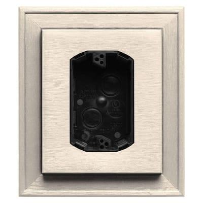 7 in. x 8 in. #021 Sandstone Beige Electrical Mounting Block