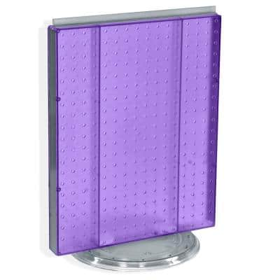 20.25 in. H x 16 in. W Revolving Pegboard Counter Display Purple