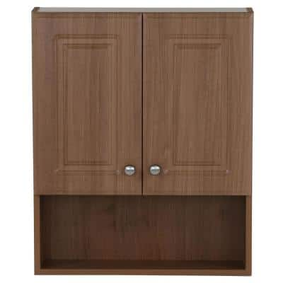 23 in. W Over the Toilet Bathroom Storage Wall Cabinet in Oak