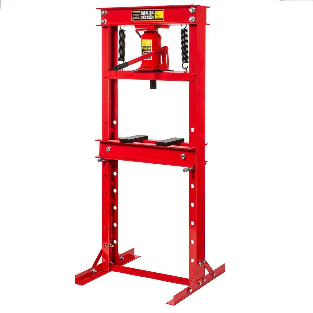 12-Ton H-Frame Hydraulic Floor Shop Press