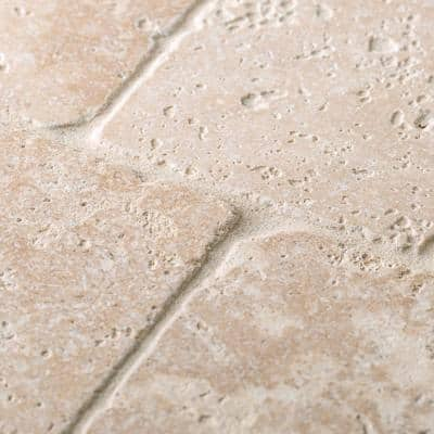 Light Travertine Cream 4 in. x 4 in. Tumbled Natural Stone Wall and Floor Tile (1 sq. ft./Pack)