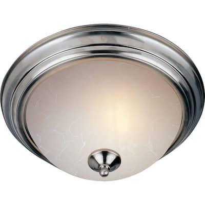 Essentials 2-Light Satin Nickel Flush Mount