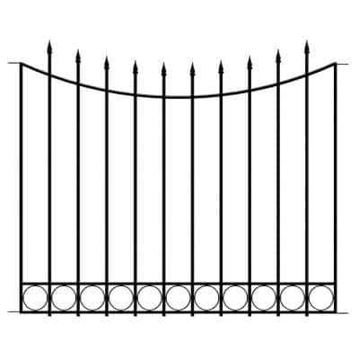 Beaumont 40.4 in. H x 49.6 in. W Black Steel Fence Panel (4-Pack)