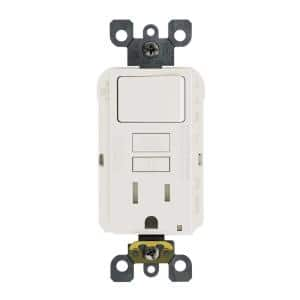 15 Amp 125-Volt Combo Self-Test Tamper-Resistant GFCI Outlet and Switch, 10-Pack, White
