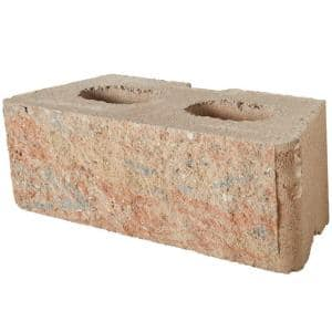 RockWall Large 6 in. x 17.5 in. x 7 in. Palomino Concrete Retaining Wall Block (48 Pcs. / 34.9 Face ft. / Pallet)