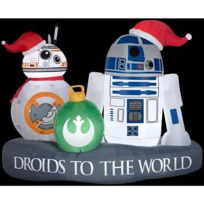 5 ft. W Inflatable Christmas Stylized R2-D2 BB-8 Driod Star Wars