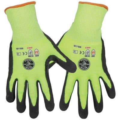 Work Gloves, Cut Level 4, Touchscreen, Large, 2-Pair