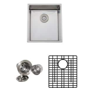 The Chefs Series Undermount 17 in. Stainless Steel Handmade Single Bowl Kitchen Sink Package