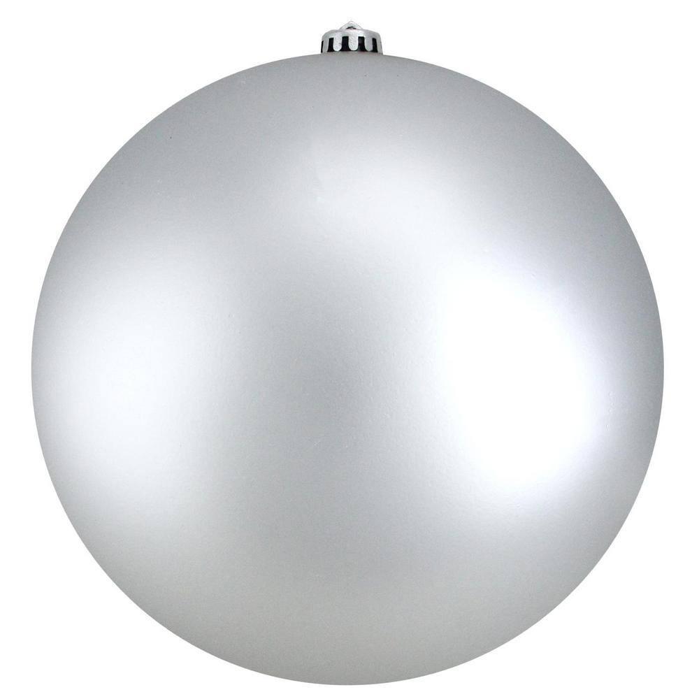 Northlight Matte Silver Splendor Commercial Shatterproof Christmas Ball Ornament 31754440 The Home Depot